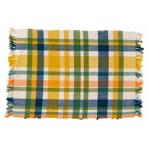 Sorbet 100% Cotton 18 Placemat (Set of 6) by Traders and Company
